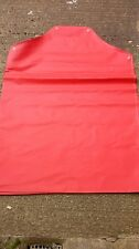"Rubber Coated Apron Red  46"" x 33"" Minimal Risk Chemical Fat Temp Resistant"