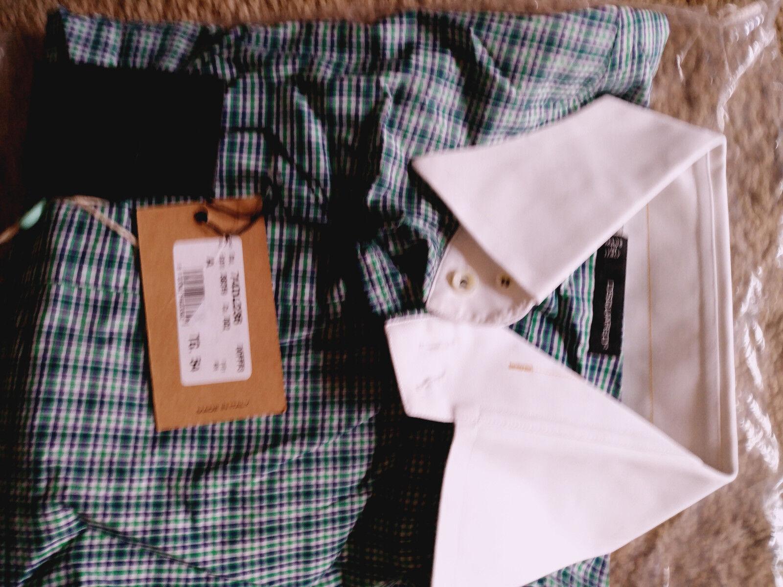 Dsquared2 Men Designer Long Sleeve Shirt -Double Collar, Double Cuff - XL- Rare