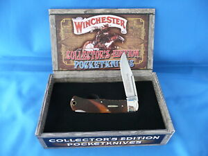 Winchester-Collector-039-s-Edition-Checkered-Bone-Lockback-Knife-WN19111C