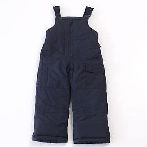 e8faa1a52aef NWT Boys Snow Pants Bibs Navy Size 4 London Fog SKI Overalls Blue ...
