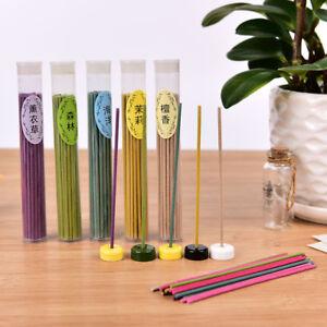 50Sticks-Incense-Burner-Natural-Aroma-Vanilla-Sandalwood-Rose-Air-Freshener-BCR