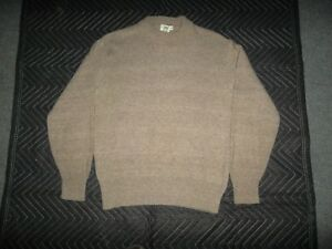 KENNINGTON-MEN-039-S-PULLOVER-CREWNECK-SWEATER-XL-but-LIKES-LARGE-SOLID-BEIGE