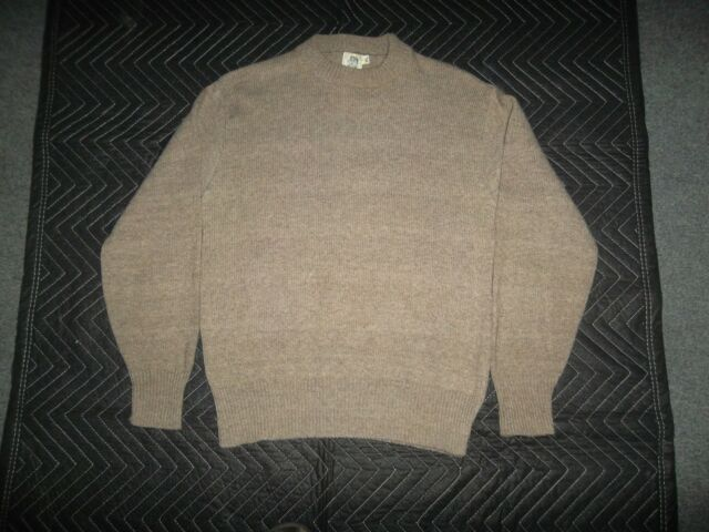 KENNINGTON MEN'S PULLOVER CREWNECK SWEATER-XL but LIKES LARGE/SOLID BEIGE