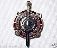 Celtic Sword & Shield -two Tone- Antique Gold & Silver - Geocoin Unactivate
