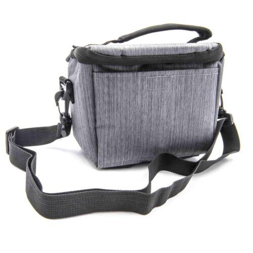 Bolsa de hombro de la cámara lona gris para Sony Cybershot DSC-H200