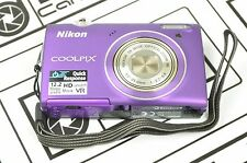 Nikon Coolpix S5100 Working Purple Camera Only. No battery or charger DH7645