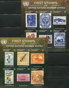 MICRONESIA 2016 FIRST STAMPS OF THE UNITED NATIONS MEMBER STATES SET 8 SHEETS