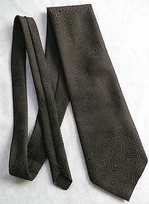 Responsabile Vintage Tie Cravatta Da Uomo Retrò Marrone Scuro Ampia Scintillante-