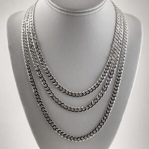 6-3mm-Solid-925-Sterling-Silver-Cuban-Link-Curb-Chain-Necklace-18-20-24-30