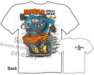 Mopar-Street-Racer-Rat-Fink-T-shirt-Ed-Roth-Muscle-Car-Clothing-M-L-XL-2XL-3XL