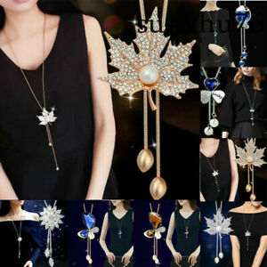 Ladies-Long-Necklace-Pendant-Chain-Alloy-Tassels-Sweater-Statement-Women-Jewelry