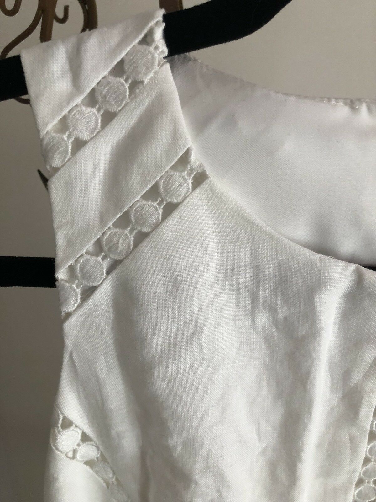 NWT Ann Taylor Taylor Taylor Dress in White Sundress Lace Details Women's Size 2 96c35f