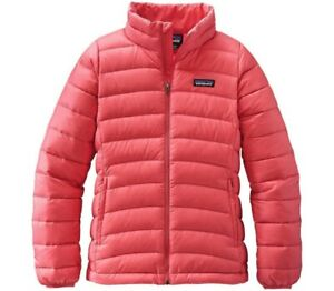 Patagonia-GIRLS-Down-Sweater-Jacket-childrens-kids-M-10-measurement-in-listing