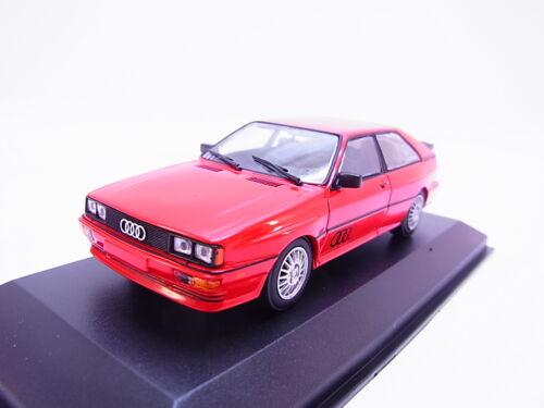 68399 maxichamps 940019420 Audi Quattro 1980 rojo maqueta de coche 1:43 nuevo embalaje original