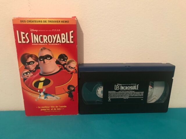 The incredibles / Les incroyable VHS tape & sleeve FRENCH