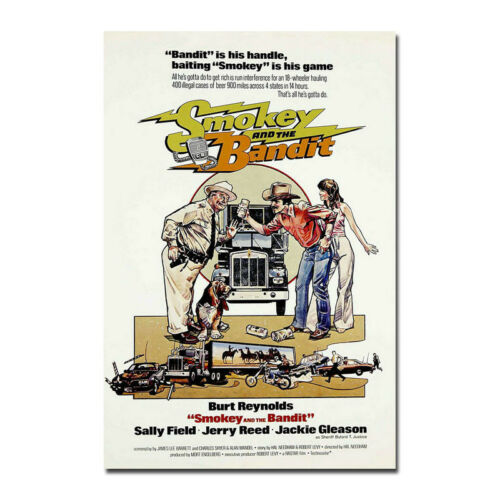 Smokey And The Bandit Movie Canvas Vintage Poster Art Prints 8x12 24x36 inch