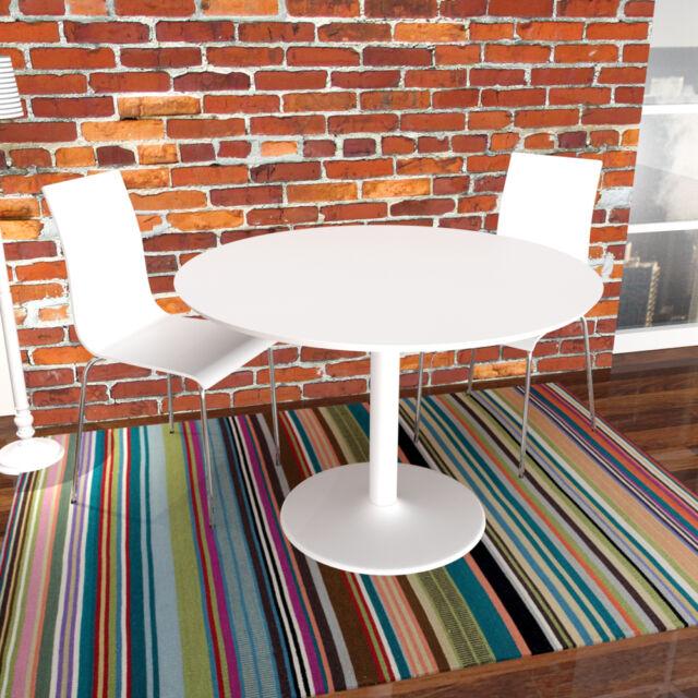 design esstisch oda weiß lackiert runder küchentisch