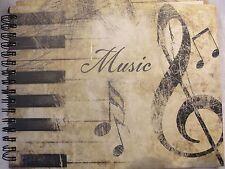 Music Manuscript Paper Blank Sheet Music Hardbound Spiral Notebook