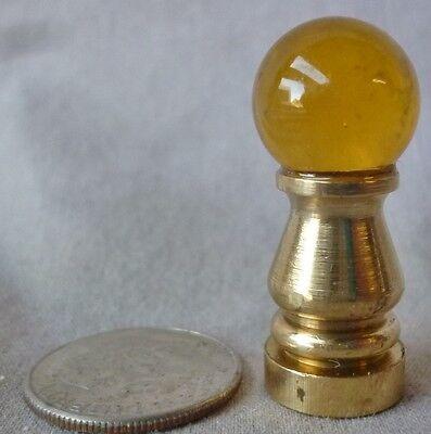 """Lamp finial amber glass ball 1 1/4""""h x 1/2"""" dia (priced per each) A"""