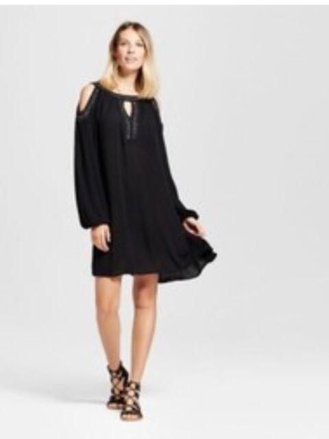 Womens Embellished Cold Shoulder Dress Knox Rose Black S Ebay