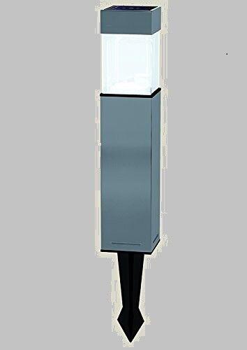 Duracell Eckige LED-Solarleuchte Außenleuchte Lampe Garten hellweiß Edelstahl