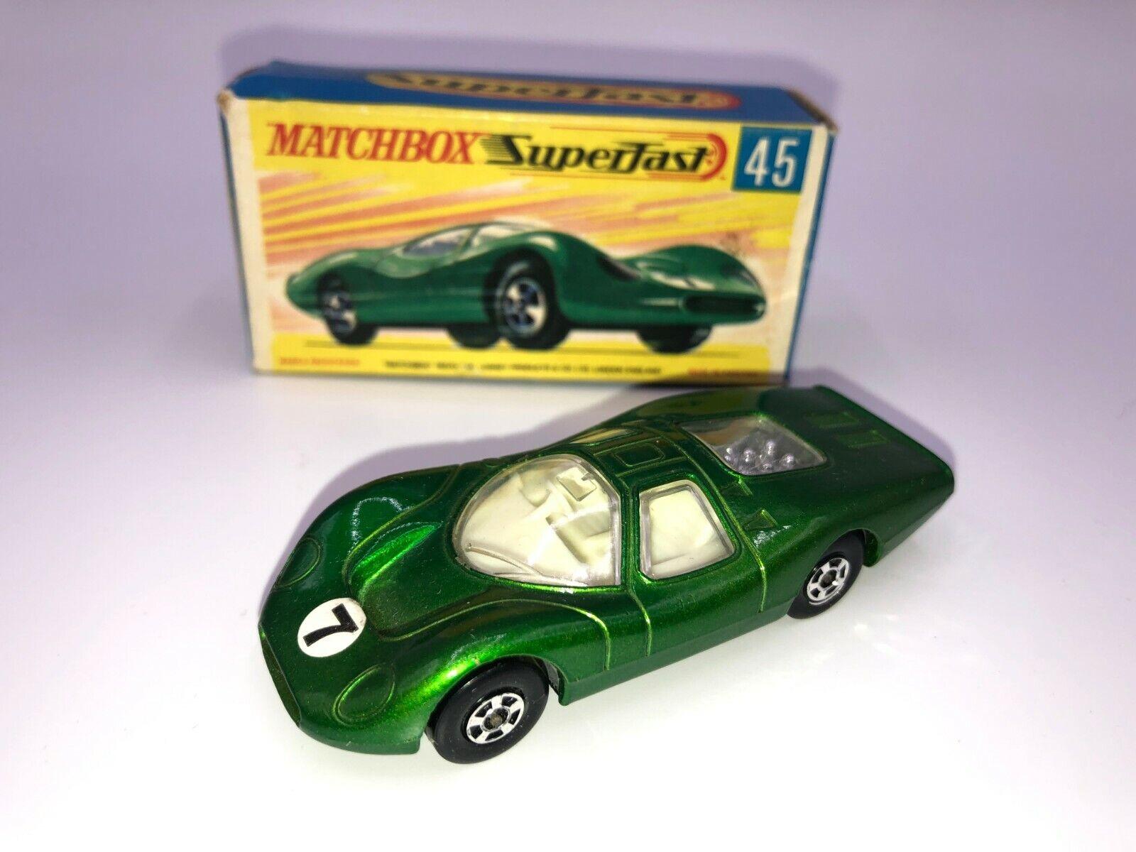 100% precio garantizado Matchbox súperfast  45 verde verde verde Ford grupo 6, Negro Base en caja original de G2  almacén al por mayor