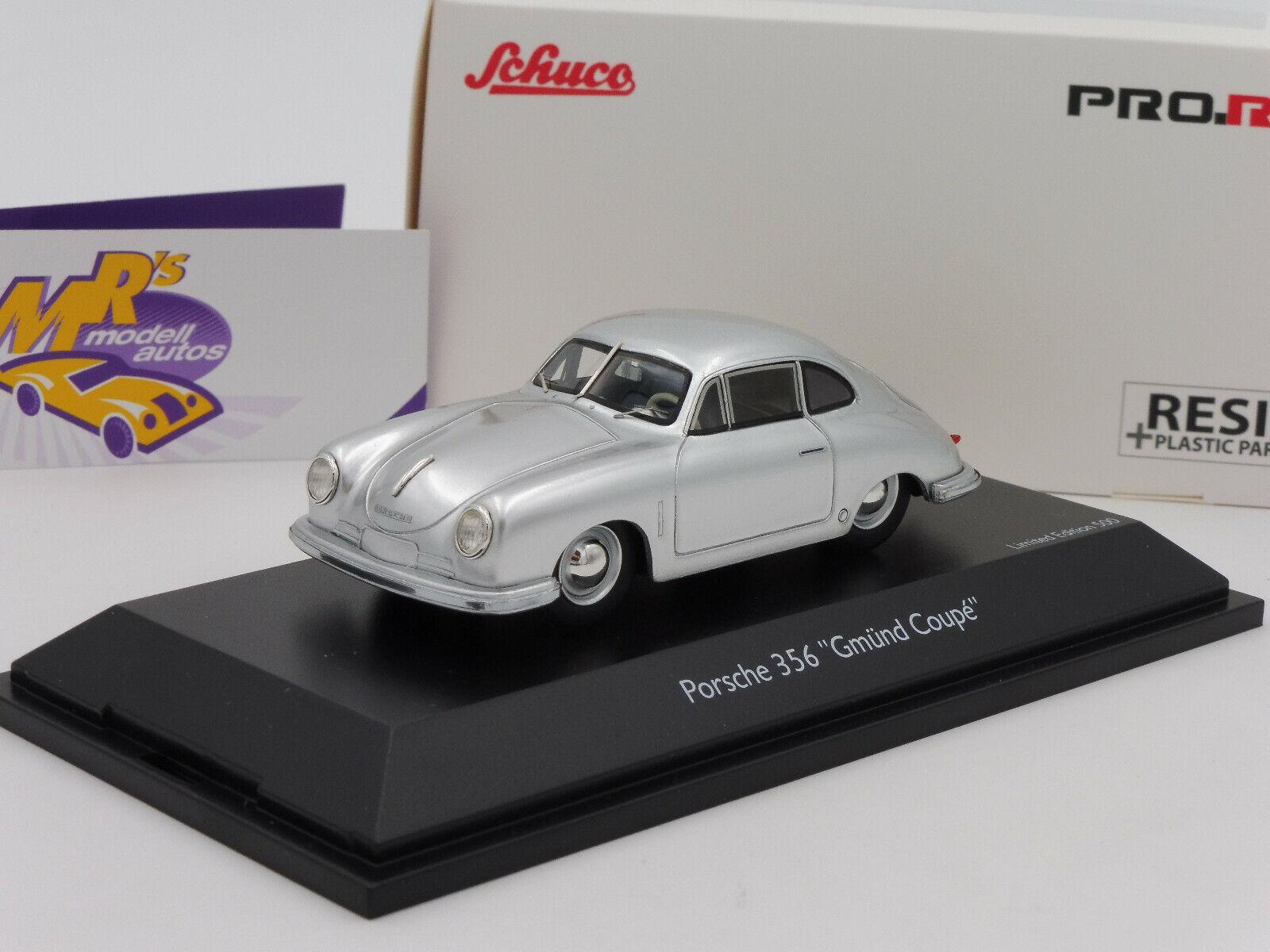 Schuco Pro.R 08798 Porsche 356   Gmünd Coupe   Bj. 1948 silvermetallic 1 43