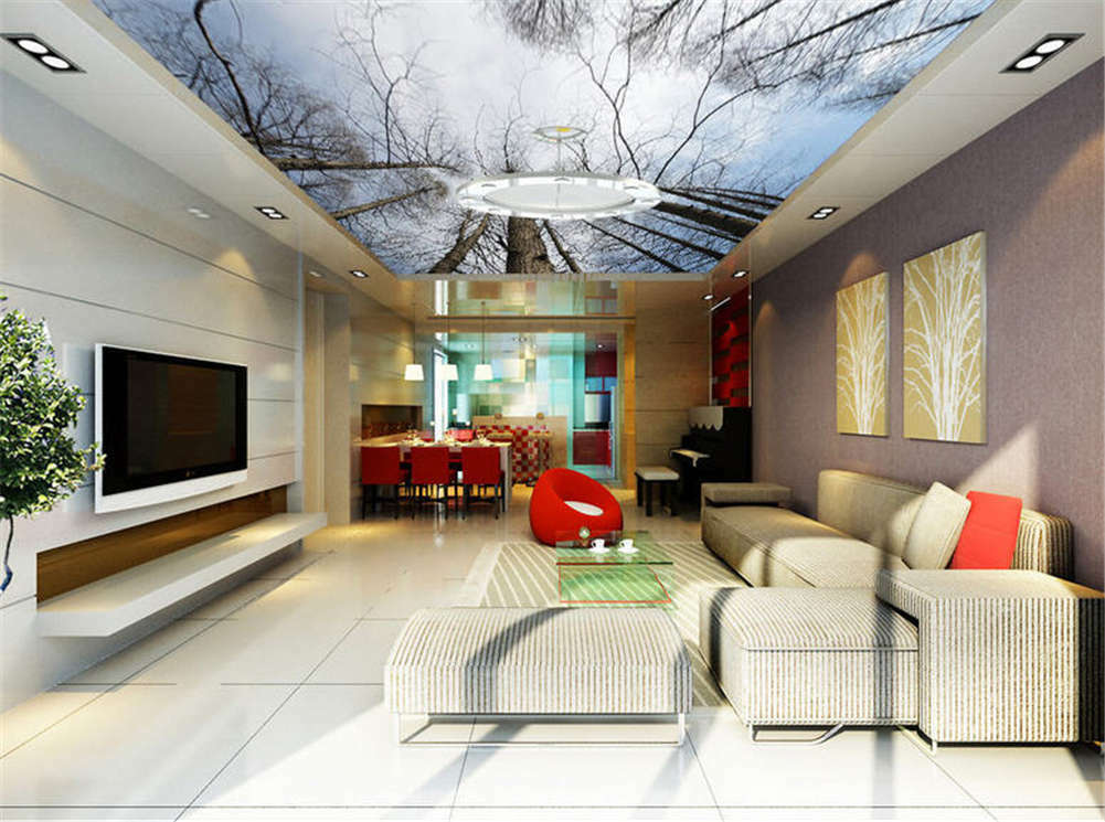 Lonely Robust Trunk 3D Ceiling Mural Full Wall Photo Wallpaper Print Home Decor