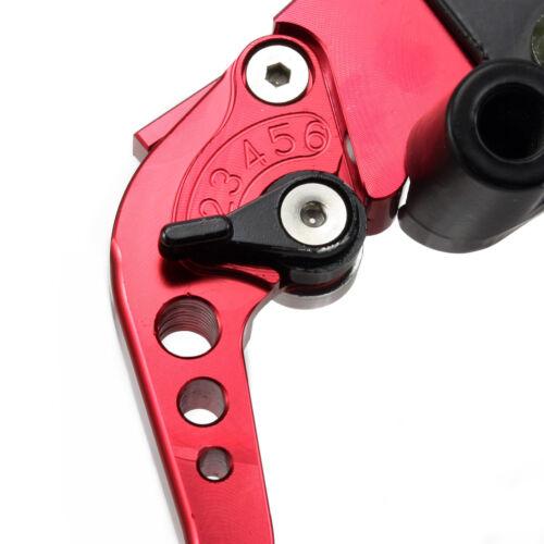 """2x Motorrad Bremspumpe Bremshebel Kupplungshebel Rot CNC 7//8/"""" 22mm Universal"""