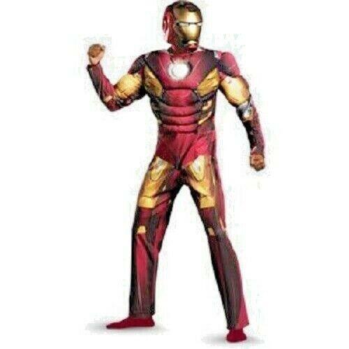 LICENSED IRON MAN 2ND SKIN ADULT MENS SUPERHERO FANCY DRESS HALLOWEEN COSTUME