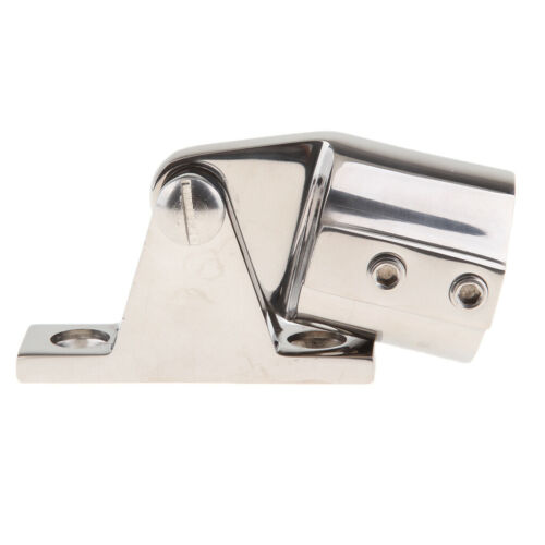 "Stainless Steel Bimini Top Cap Tube Eye End 1/"" Deck Hinge for Boat Yacht"