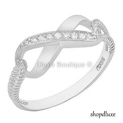 WOMEN'S INFINITY KNOT .925 STERLING SILVER FRIENDSHIP LOVE PROMISE RING SZ 4-10