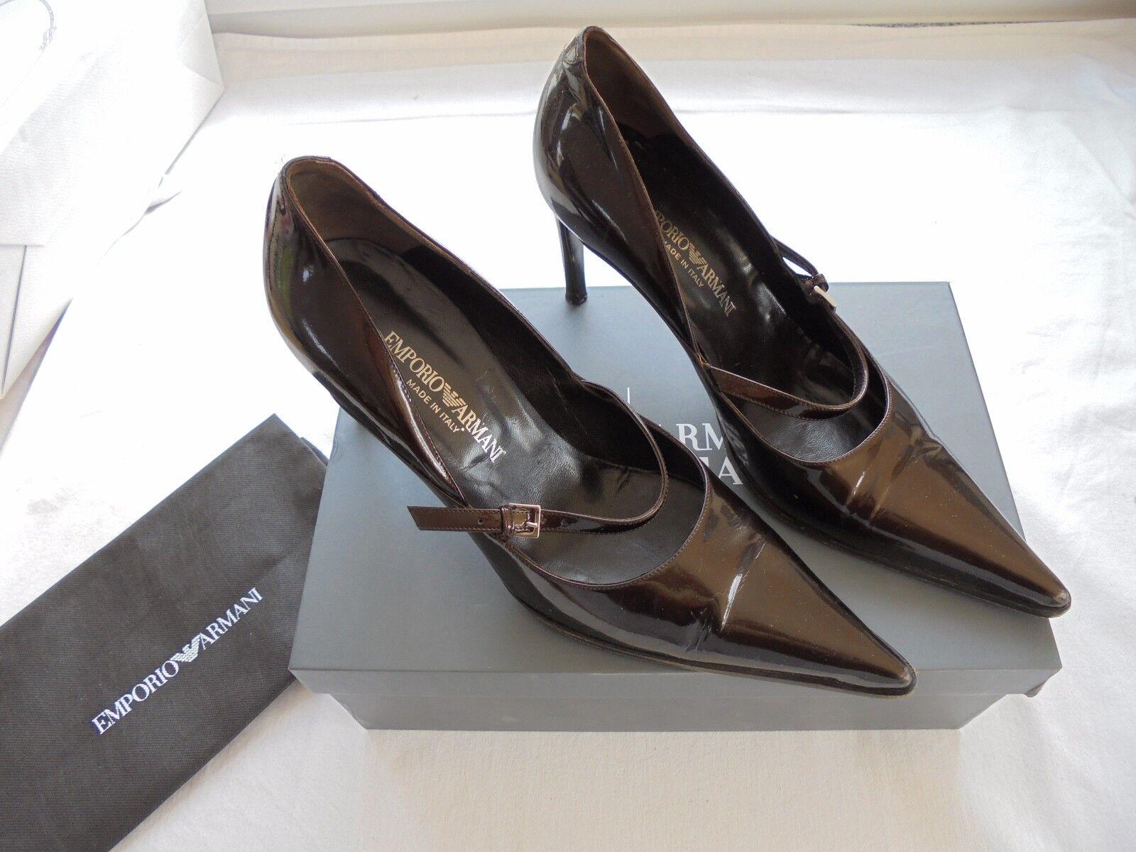 Emporio Armani Lackleder Pumps High NP  TOP Designer High Pumps Heels Schuhe Gr. 38 05c7e0