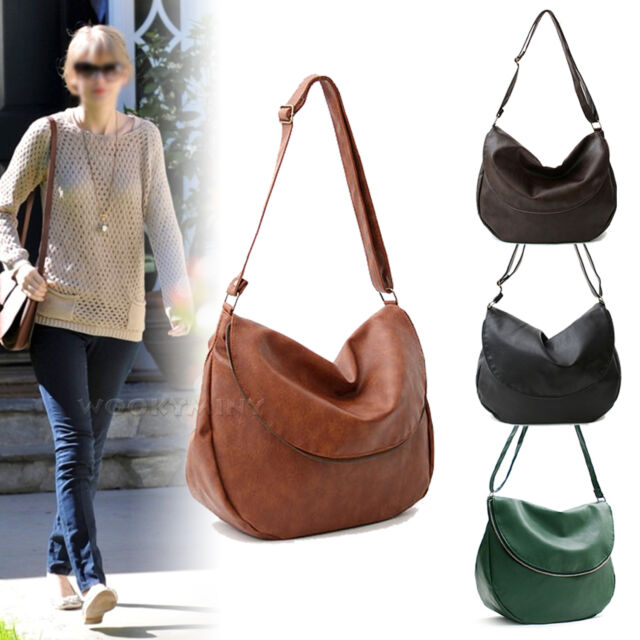 Fashion Womens Faux Leather Messenger Hobo Handbag Shoulder Bag Lady Tote Purse