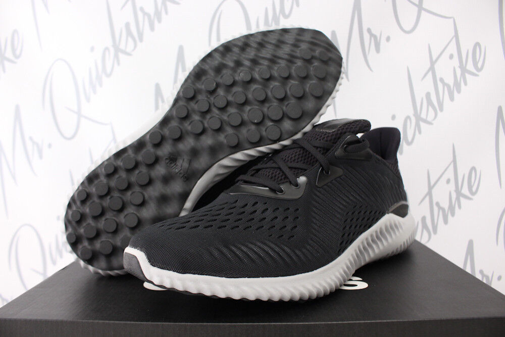90716a25ed ADIDAS ALPHABOUNCE EM SZ 12 RUNNING SHOES UTILITY CORE BLACK WHITE BY4264