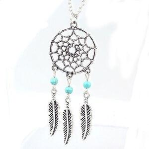 Retro-Women-Lady-Dream-Catcher-Pendant-Long-Chain-Necklace-Sweater-Jewelry-B2H8