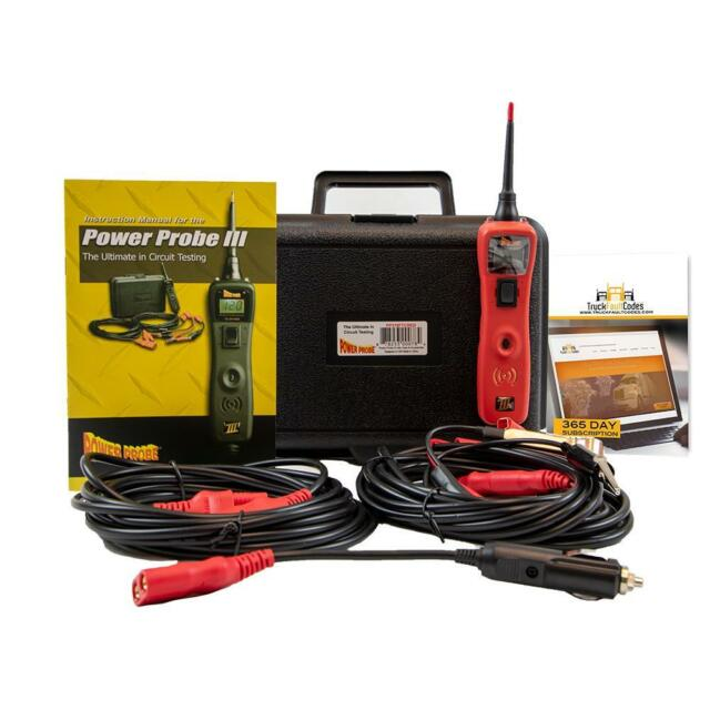 Power Probe 3 III Red Circuit Tester with Truck Fault Codes PP319FTCRED