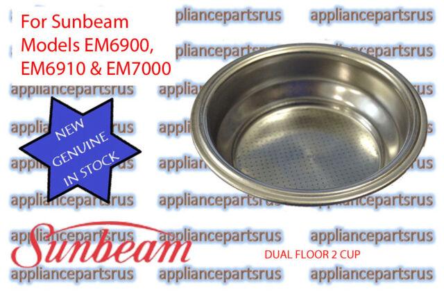 Sunbeam EM4300 EM6910 EM7000 PU8000 Dual Floor 2 Cup Filter EM6910102 - NEW
