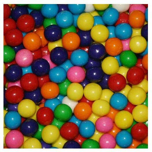 Dubble Bubble ASSORTED 13mm Gumballs Bulk Vending 1 Pound