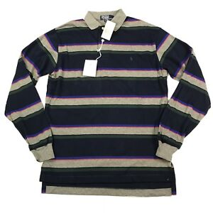 5ac33d9deeb9 Vintage Polo Ralph Lauren Rugby Shirt Mens Small New W/Tags Striped ...