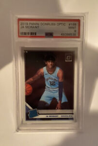 2019 Panini Donruss Optic #168 Ja Morant RC Rookie Mint PSA 9 Prizm Grizzlies