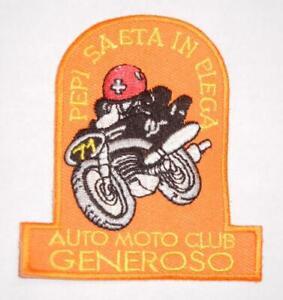 Guzzi-Aermacchi-Moto-Club-Generoso-Switzerland-Racing-souvenir-3-034-cloth-patch