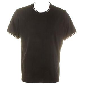 Alfani Mens Black Short Sleeve Fashion Ringer Crew Neck Stretch T-Shirt XXL