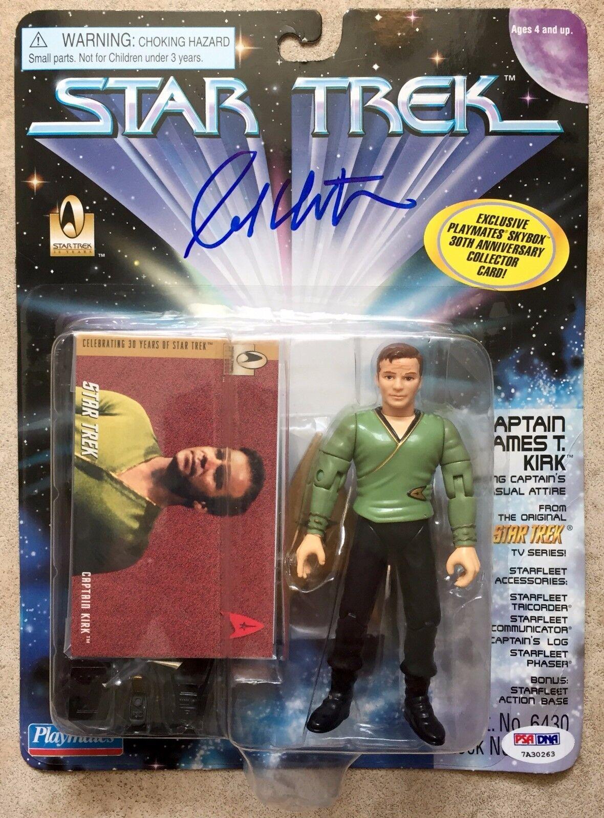 1996 William Shatner Signed Star Trek Playmates Captain Kirk Figure PSA DNA COA