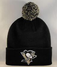 Pittsburgh Penguins NHL Zephyr Cuffed Knit Pom Hat Black
