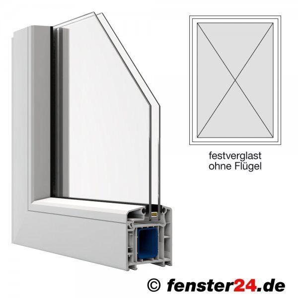 Veka Kunststofffenster Breite 900mm x wählbare Höhe, Höhe, Höhe, feststehend ohne Flügel in 4ab35b