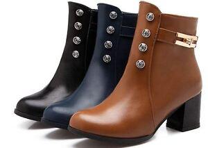 Détails Bottes Chaussures 5 Synthetique Talon 5 Cuir pour sur Confortable cm Bottines Femmes POZiuXk