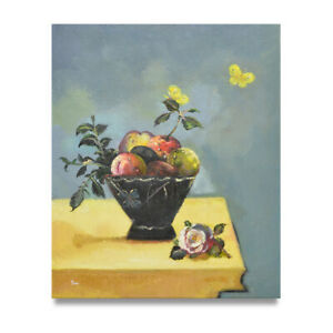 NY-Art-Soft-Focus-Impressionist-Still-Life-with-Butterflies-20x24-Oil-Painting
