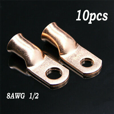 """Wire Ring Terminal Copper 1//0 AWG Gauge 1//2/"""" Connectors Car Audio Terminals 2"""