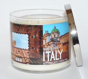 NEW-BATH-amp-BODY-WORKS-ITALY-CANNOLI-CHOCOLATE-SCENTED-CANDLE-3-WICK-14-5OZ-LARGE